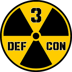 Current Defcon level and alert color today