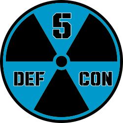 Current Defcon level today is 5