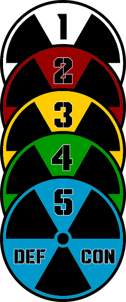 List of all 5 defcon levels