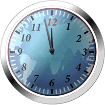 Doomsday clock time at 100 seconds to midnight