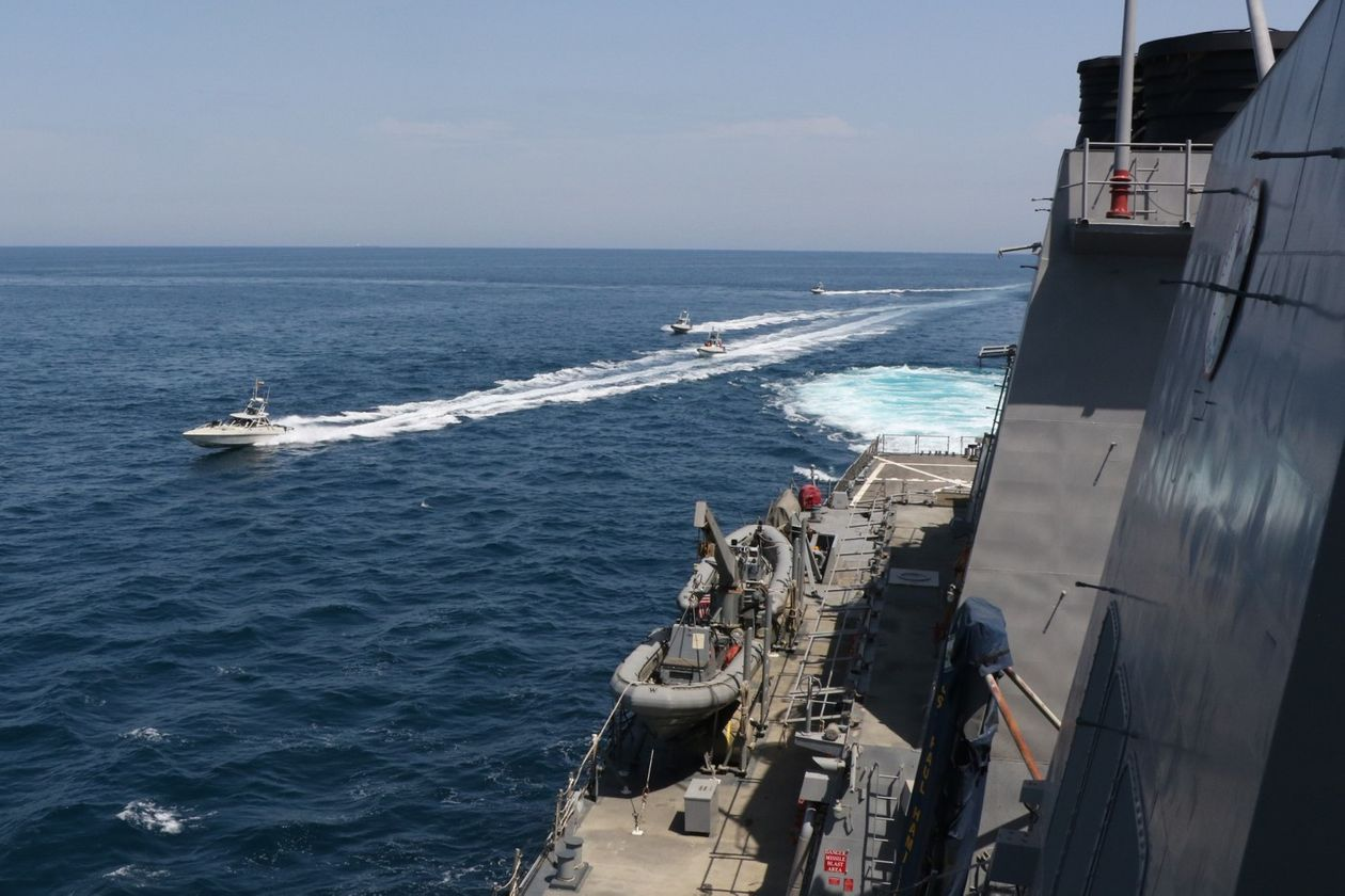 Three Iranian Fast Attack Boats Swarm And Buzz U.S. Coast Guard