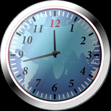 Doomsday clock - 17 Minutes To Midnight