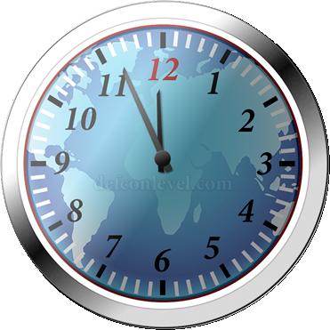 Doomsday clock - 4 Minutes To Midnight
