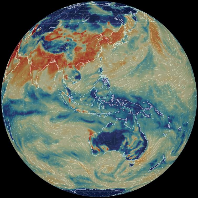 Live World Air Particulates Map.